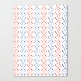 Folkloric Embroidery Sampler Stitches Seamless Vector Pattern. Hand Drawn Canvas Print