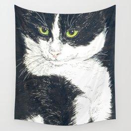 Tuxedo cat Wall Tapestry