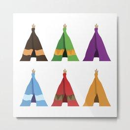 Tents Metal Print