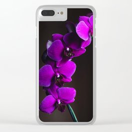 Purple Flowers (Color) Clear iPhone Case