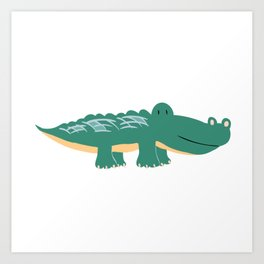 Alligator - Crocodile Art Print