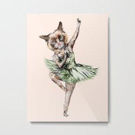 Siamese Ballerina in Cat Ballet  Metal Print
