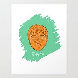 Criminal Art Print