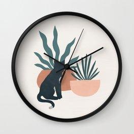 flora and fauna Wall Clock