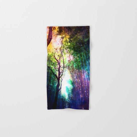 rainbow rain Hand & Bath Towel