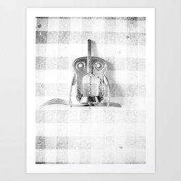 Kitchen Holy Owl Art Print