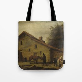 An Inn in the Neighborhood of Nantes, Lambert Doomer, 1640 - 1660 Tote Bag