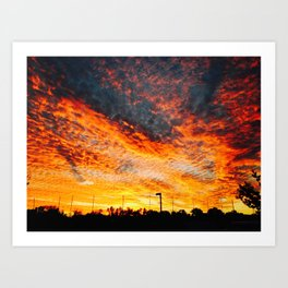 sunset from the other world Art Print