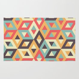 Pastel Geometric Pattern Rug