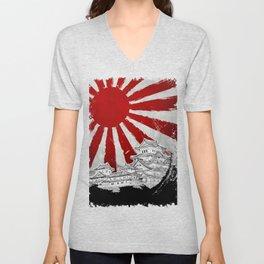 Japanese Palace and Sun Unisex V-Neck