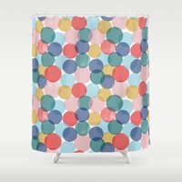 bubble Shower Curtains featuring Bubble by Emmyrolland