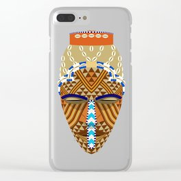 African mask Clear iPhone Case