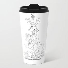 Christmas: It's Too Fucking Deer Travel Mug