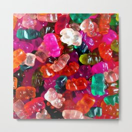 Yummy Gummies Metal Print