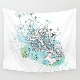 Ribcage in Colour Wall Tapestry