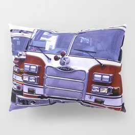 Those Wonderful Fire Trucks Pillow Sham