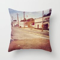 memphis Throw Pillows featuring Memphis Street by wendygray