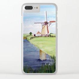 Dutch Windmill Clear iPhone Case