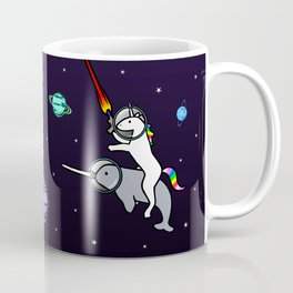 Unicorn Riding Narwhal In Space Coffee Mug