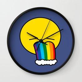 Puke Rainbow - Emoji Wall Clock