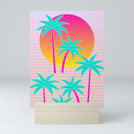 Hello Miami Sunset Mini Art Print