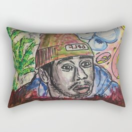 tyler,rapper,colourful,colorful,poster,wall art,fan art,music,hiphop,rap,legend,shirt,print Rectangular Pillow