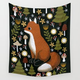 hello fox Wall Tapestry