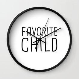 Favorite Child Wall Clock