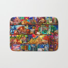 World Traveler Book Shelf Bath Mat