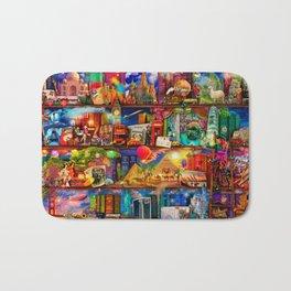 World Traveler Book Shelf Bath Mat
