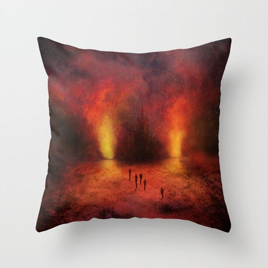 Leaving the past Throw Pillow