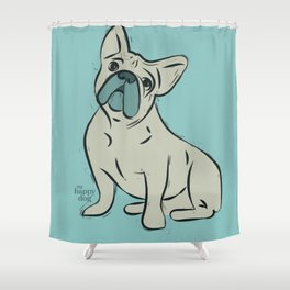 Frenchy - mint Shower Curtain