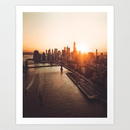 nyc aerial view Art Print