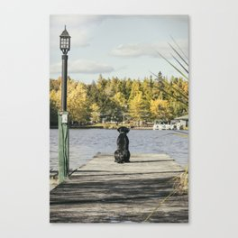 Charlie on the Pier Canvas Print
