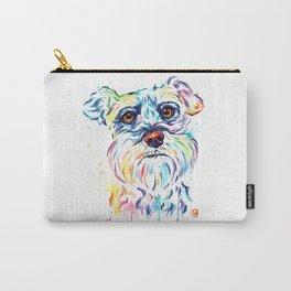Schnauzer Watercolor Pet Portrait Painting Carry-All Pouch
