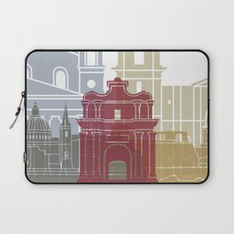 Valletta skyline poster Laptop Sleeve