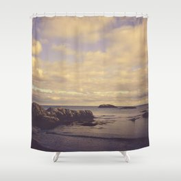 Her Dreams Stretched as Far as the Sea Was Wide Shower Curtain