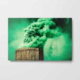 Abstract Smoke Metal Print