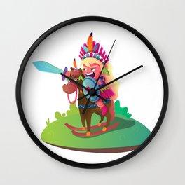 Warrior Girl Wall Clock