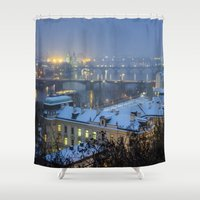 prague Shower Curtains featuring Prague 2 by Veronika