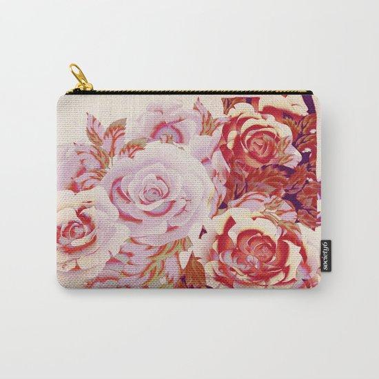 composition florale en rose Carry-All Pouch