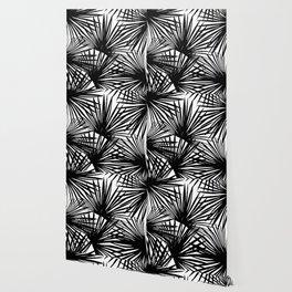 Tropical Fan Palm Leaves #2 #tropical #decor #art #society6 Wallpaper