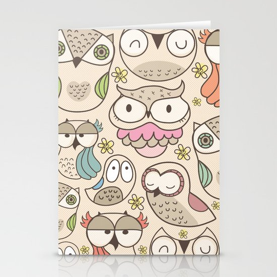 The owling Stationery Cards
