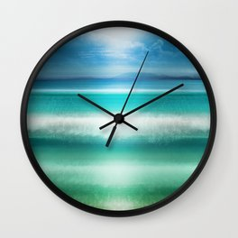 """Blue sky over teal sea South"" Wall Clock"