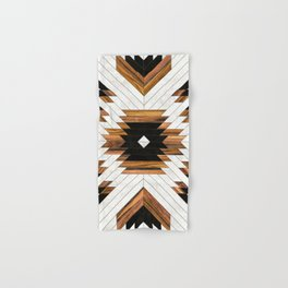 Urban Tribal Pattern 5 - Aztec - Concrete and Wood Hand & Bath Towel