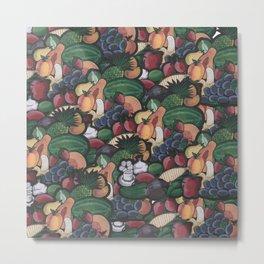 Frutas y Verduras Metal Print