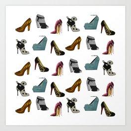 Shoe addict Art Print