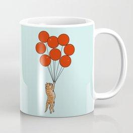 I Believe I Can Fly Cat Coffee Mug