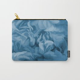 Midnight Blue Petal Ruffle Abstract Carry-All Pouch