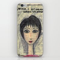 sarcasm iPhone & iPod Skins featuring Sarcasm by Jodi Reeves {a creative soul}